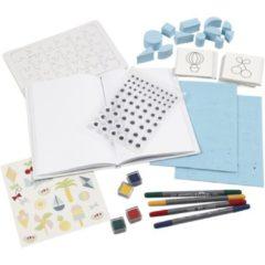 Creotime Textiel papier versierset 26-delig multicolor