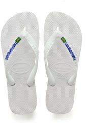 Witte Havaianas Unisex Brasil Logo Flip Flops - White - EU 39-40/UK 6-7 - White