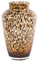 Gelukkig Bloemen Glazen vaas Hudson cheetah Ø22,5 x H35 cm