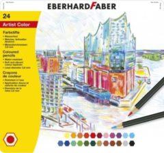 Eberhard Faber EF-516124 Kleurpotloden Metaaletui A 24 Stuks