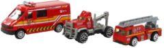 ARO toys Brandweervoertuigen 3st in blister 3 ass