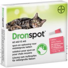 Bayer Dronspot Spot-On Kat >2.5 - 5 Kg - Anti wormenmiddel - 2 pip