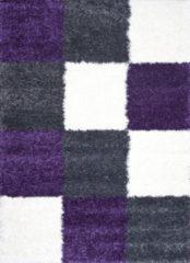 Karpetexpert.nl Vloerkleed Shaggy Plus 910 Grey Lilac 200x290 cm