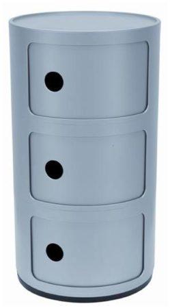 Afbeelding van Zilveren Kartell Componibili bijzettafel large (3 comp.) zilver