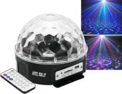 Zwarte BRANSUS Nightlife RGB MP3 Discobol met afstandsbediening