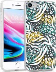 IMoshion Design voor de iPhone SE (2020) / 8 / 7 / 6s hoesje - Jungle - Wit / Zwart / Groen