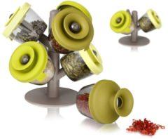 Groene Voorraadpotten Popsome Met Standaard - 6 Potten - Tomorrow's Kitchen