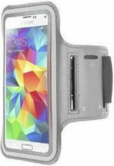 Samsung Galaxy S5 sports armband case Zilver/ Silver