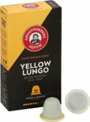 Grootmoeders Koffie | Koffiecups Yellow Lungo | 10 x 10 stuks