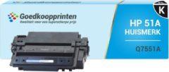 Goedkoopprinten Huismerk voor HP 51A toner / HP Q7551A toner (7.250 afdrukken) Zwart
