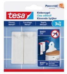 Witte 1x2 Tesa 77763 klevende spijker voor tegels en metaal 3kg