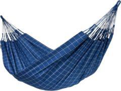 Blauwe Kingsize Klassieke Hangmat Outdoor Brisa Marine - LA SIESTA (BRH18-W3)