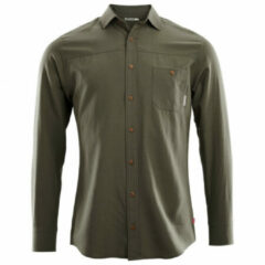 Aclima - Woven Wool Shirt - Overhemd maat S, zwart/olijfgroen/grijs
