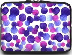 Case2go Universele Laptop Sleeve - 15.6 inch - Colorfull Dots