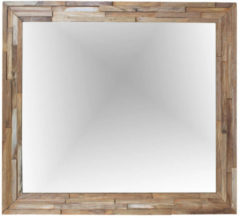 Teak & Living Spiegel Cladding 90x80 cm Natural Teak