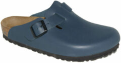 Blauwe Birkenstock boston synthetisch