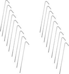 Barkleydeal Stalen Tentharingen Set - 18 stuks - 23 cm | Staal | Opzetten Tent | Tentspijkers | Tentspijker | Haringen | Tentharing | Haring | Camping | Kamperen