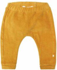 Moodstreet Petit baby velours regular fit broek Ted goud
