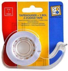 Soho Plakbandhouder Met Plakbandrol 1,5 X 5 Cm Transparant