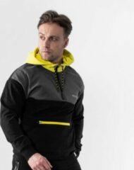 Gele Bodyfit Body&Fit Hero Tech Hoodie - Trui met Capuchon en Rits - Hoodie Heren - Maat: S - Meerkleurig
