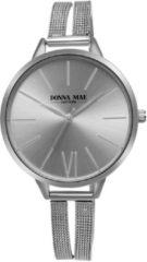Lucardi - Donna Mae - Donna Mae horloge met zilverkleurige mesh band
