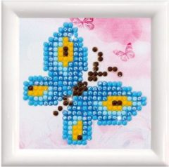 DDS.002F Diamond Dotz® Kit with Frame 9,7x9,7cm White - Butterfly Sparkle