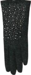 Grijze ECgloves Handschoenen dames met glitters - fashion