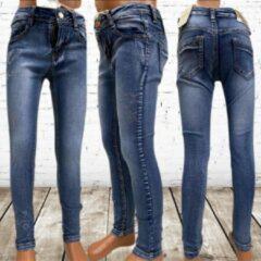 Blauwe S&C Kids Look Meisjes jeans met sterren 907 - 122/128