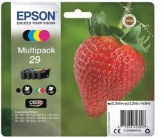 Epson Multipack 4-colours 29 Claria Home Ink 3.2ml 5.3ml Zwart, Cyaan, Magenta, Geel 175pagina's 180pagina's inktcartridge