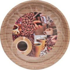 Tablett mit Kaffee-Motiv Espresso HTI-Living Hellbraun