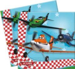 Blauwe Disney Servetten Planes 33 X 33 cm 20 Stuks