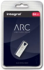 Integral ARC USB stick 2.0, 64 GB, zilver
