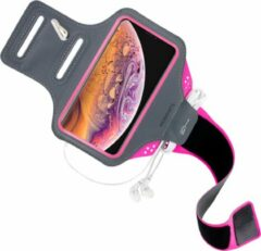 Roze Mobiparts Comfort Fit Sport Armband Apple iPhone XS Max Neon Pink