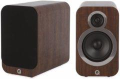 Bruine Q Acoustics 3020i- Boekenplank Luidsprekers - Walnoot ( per paar )