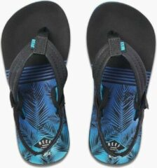 Reef Little Ahi Jongens Slippers - Aqua Palms - Maat 23/24