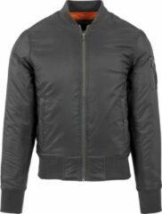 Donkergrijze Urban classics Basic - Original - BomberJack - Bomber Jacket Casual - Streetwear - Modern - Classic Heren Bomberjack Maat L