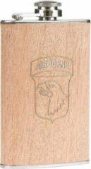 Fostex Zakfles/heupflacon houtlook 150ml - 101st Ariborne