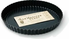 Zwarte Bakmeester Claes taartvorm losse bodem 24cm