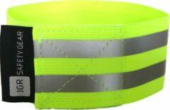 JGR Safety gear Veiligheids armbanden| Reflecterende armband | Sport armbanden | Wielrennen / Hardlopen veiligheidsband |armbanden armband hardloop wielren sport fiets hardloop zichtbaarheid - Geel