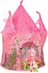 Relaxdays Speeltent meisjes - kasteel - tent voor kinderkamer - kindertent - rozentuin