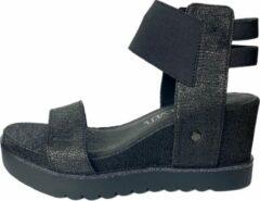 Sixty Seven - sleehak sandalen - maat 37 - dames - zwart