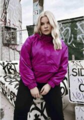 Urban Classics Jacket -M- Panel Pull Over Paars/Roze