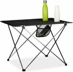 Zwarte Relaxdays campingtafel inklapbaar - kampeertafel - klaptafel - picknicktafel - draagzak