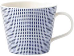 Blauwe Royal Doulton Pacific mok - 0,39 liter - dots