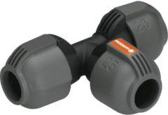 Grijze GARDENA- T-stuk 25mm - onderdeel sprinklersysteem