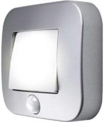 LEDVANCE NIGHTLUX® Hall L 4058075260672 LED-nachtlamp met bewegingsmelder Vierkant LED Neutraal wit Zilver