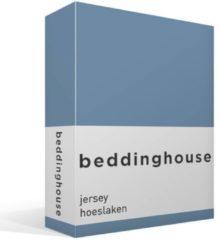 Beddinghouse jersey hoeslaken - 100% gebreide katoen - 2-persoons (140x200/220 cm) - Blauw