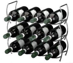 Merkloos / Sans marque Wijnrek stapelbaar 3-delig voor 12 flessen