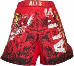 Merkloos / Sans marque Ali's fightgear kickboks broekje - mma short - 2 rood - L