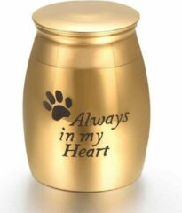 Nobbon Studios Mini urn rvs always in my heart goud